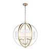 This item: Diffusion Aged Silver Four-Light Pendant