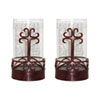 This item: Tejas Metal and Glass Six-Inch Candle Holder, Set of Two