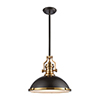 This item: Chadwick Oil Rubbed Bronze and Satin Brass One-Light Pendant