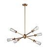 This item: Xenia Matte Gold 42-Inch Six-Light Island Pendant
