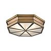This item: Windsor Classic Brass 20-Inch Three-Light Flush Mount