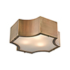 This item: Gordon Classic Brass Three-Light Flush Mount