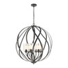 This item: Daisy Midnight Bronze Six-Light Chandelier