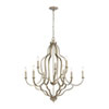 This item: Lanesboro Dusted Silver Nine-Light Chandelier