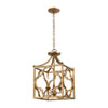 This item: Wembley Antique Gold Three-Light Chandelier