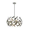 This item: Carthage Satin Nickel Six-Light Pendant