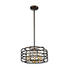 This item: Capistrano Oil Rubbed Bronze and Satin Brass Five-Light Pendant