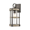 This item: Crenshaw Anvil Iron and Distressed Antique Graywood Eight-Inch One-Light Outdoor Wall Sconce