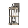This item: Crenshaw Anvil Iron and Distressed Antique Graywood Three-Light Outdoor Wall Sconce