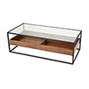 This item: Rubric Black and Walnut Coffee Table