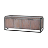 This item: Milford Grey Stain and Antique Brass Console