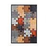 This item: Grain De Bois Noir Puzzled Wall Art