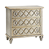 This item: Naomi Hand-Painted Champagne and Silver Chest