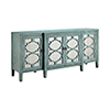 This item: Carrie Hand-Painted Antique Blue with Antique Mirror Credenza