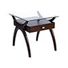 This item: Hildegard Dark Cherry Stain Accent Table