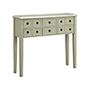 This item: Chesapeake Hand-Painted Gray and Antique Brass Console Table