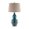 This item: Lara Blue and Golden Brown One-Light Table Lamp