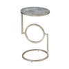 This item: Eye End Grey Stone with Silver Leaf 12-Inch Accent Table