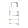 This item: Louisville Antique Silver with Clear Glass Bookcase Shelf