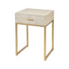 This item: Les Revoires Cream with Gold 16-Inch Accent Table
