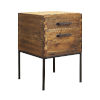 This item: Chef Corner Woodlwith Stain with Antique Brass 24-Inch Accent Table