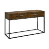 This item: Stanley Woodlwith Stain with Antique Brass Console Table