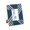 This item: Stripes White with Blue 4 x 6 Inch Picture Frame