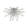 This item: Starbound Clear with Chrome Three-Light Flush Mount
