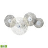 This item: Dream Catcher Chrome with Smoked Glass Four-Light LED Wall Sconce