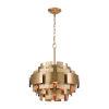 This item: Case the Joint Satin Brass Three-Light Pendant