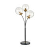 This item: Boudreaux Burnished Brass with Matte Black Three-Light LED Table Lamp