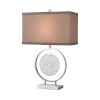 This item: Saturn Chrome with Clear One-Light Table Lamp