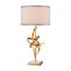 This item: Rhythmic Gold Leaf with Polished Nickel One-Light Table Lamp