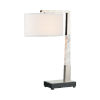 This item: Erudite Brushed Nickel with White Marble One-Light Table Lamp