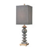 This item: Grey Charles Grey Marble with Cafe Bronze One-Light Table Lamp