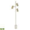 This item: Dien Honey Brass with White Marble Three-Light LED Floor Lamp