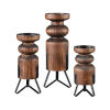 This item: Stilton Burnished Pine and Antique Black 16-Inch Pillars Candle Holder, Set of 3