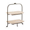 This item: Linwood Whitewashed Wood and Antique Zinc 20-Inch Two-Tier Server