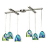 This item: Colorwave Satin 33-Inch Nickel Six Light Chandelier
