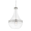 This item: Hagen Polished Nickel One-Light Pendant with Clear Glass