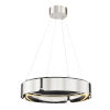 This item: Tribeca Burnished Nickel Black 21-Inch One-Light LED Chandelier
