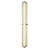 This item: Tribeca Aged Brass Black 31-Inch One-Light LED Bath Light with Alabaster Shade