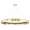 This item: Tribeca Aged Brass Black 49-Inch One-Light LED Chandelier