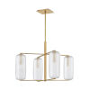 This item: Pebble Aged Brass Four-Light Chandelier