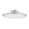 This item: Draper Polished Nickel One-Light LED Flush Mount with Alabaster Shade
