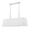 This item: Bowery Polished Nickel Eight-Light Pendant with White Belgian Linen Shade