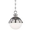This item: Latham Polished Nickel One-Light Pendant