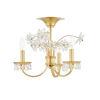 This item: Beaumont Aged Brass Three-Light Flush Mount