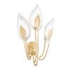 This item: Blossom Gold Leaf Three-Light Wall Sconce