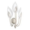 This item: Blossom Silver Three-Light Wall Sconce with Clear Glass